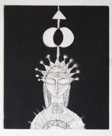 Meditation #34 - Intaglio Etching $550 (unframed H 8in x W 7in or 20cm x 15cm)