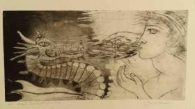Dragon's Fire & Angel's Breath - Intaglio Etching  $650 (unframed)