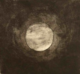 Moon Disk - Intaglio Etching $800 (Unframed H 12in x W 11in or 30cm x 28cm)
