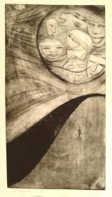 The Traveler - intaglio etching $400 (unframed)