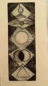 Higher centres - etching $350 (unframed)